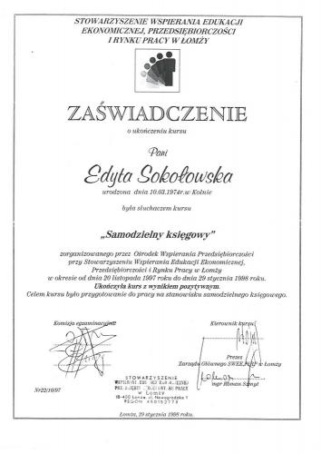 certyfikat 18