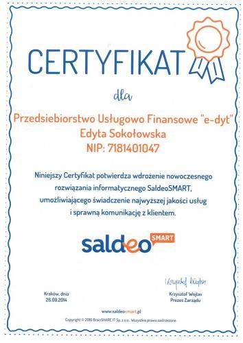 certyfikat 21